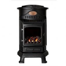 Provence Real Flame Effect Calor Gas Mobile Portable Heater Fire Matt Black